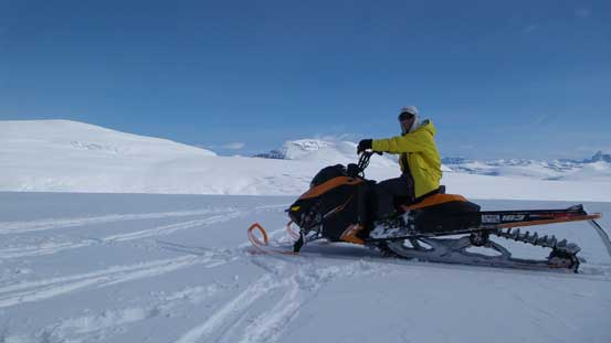 Another picture of me on the snowmobile.