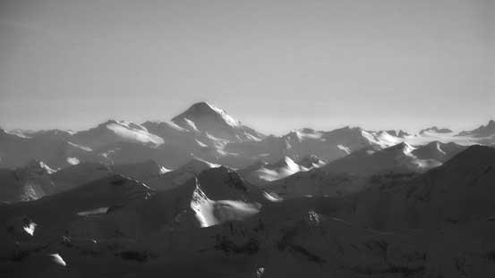 Mt. Sir Sandford in the distance - highest peak in Selkirks