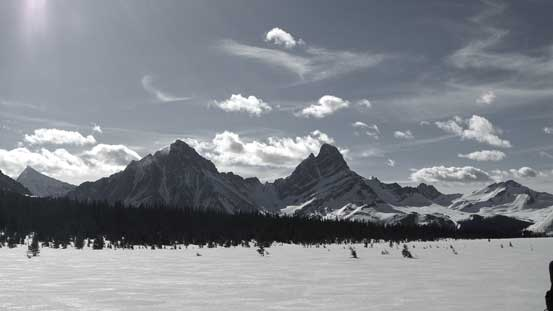 Throne Mountain and Blackhorn Mountain