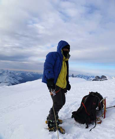 Me on the summit of Mt. Columbia, my 19th 11,000er!!