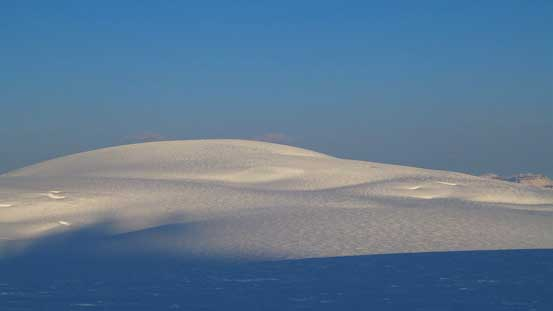 The rounded hump of Snow Dome - that is a fat mountain...