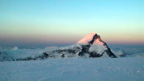 Alpenglow on Mt. Columbia