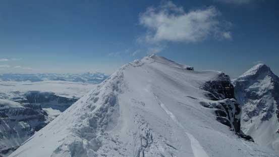 Looking back on the summit ridge