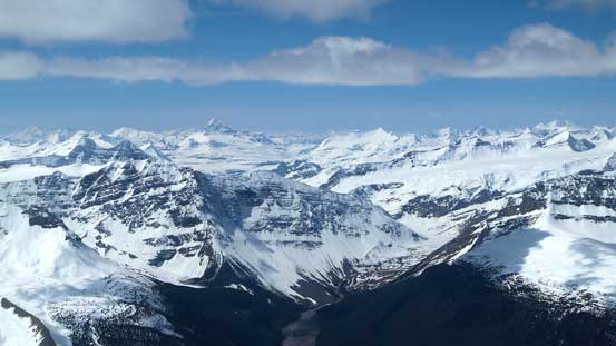 Tsar Mountain and Chaba Icefield