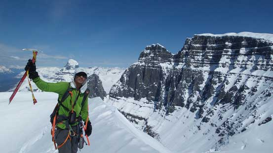 Me on the summit of West Twin, my 24th 11,000er
