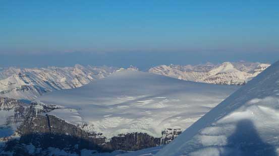 Front range peaks behind Mt. Kitchener