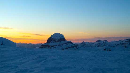 Mt. Alberta at dusk