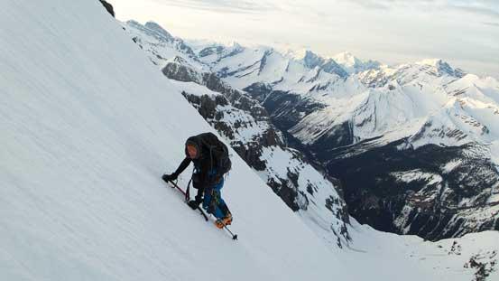 Terrain got steeper soon. Deja Vu Lefroy...