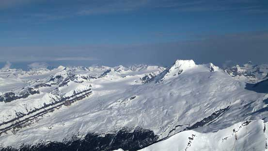 Mt. King Edward and the western side of Columbia Icefield