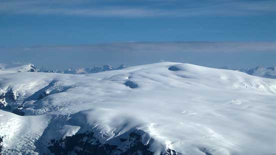 This picture clearly shows there're lots of huge crevasses on Snow Dome