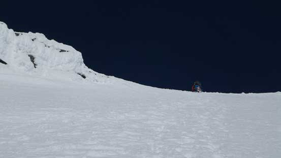 And then, down-climbing the upper face. Step by step