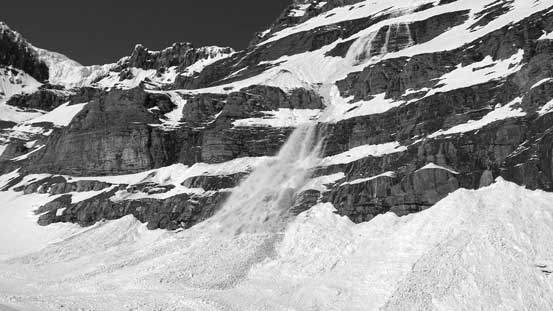 Avalanches coming down all over the place. Every 3 minutes there's a BOOM...
