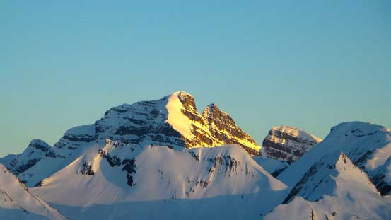 Evening glow on Cockscomb Mountain