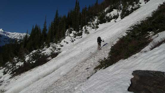 Ben tried to ski for a while before switching to boot-packing