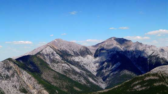 The two summits of Midnight Peak