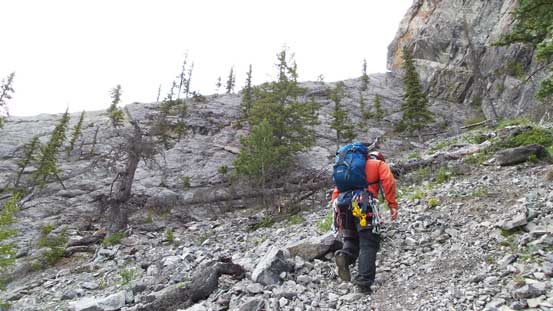 Approaching the climb