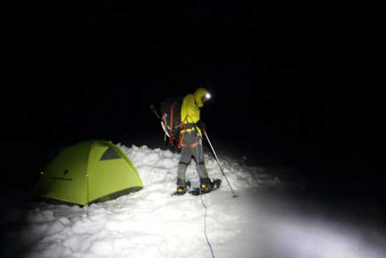 Starting in the pitch dark. Photo by Ben