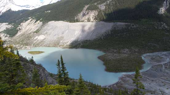 This glacial lake at the end of Glacier Lake Valley is quite pretty