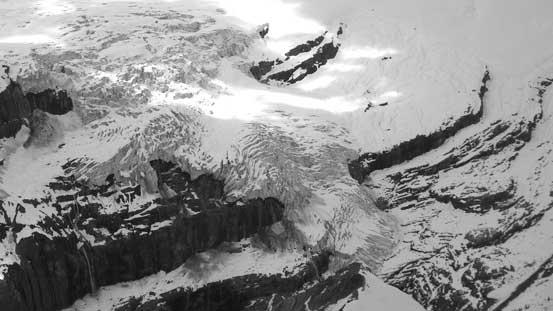 Impressive Icefalls on Lyell Icefield