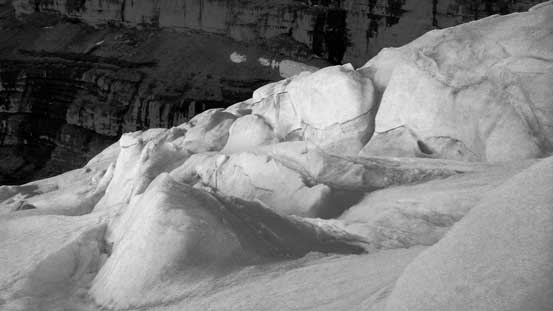 Uhh the crevasse field...
