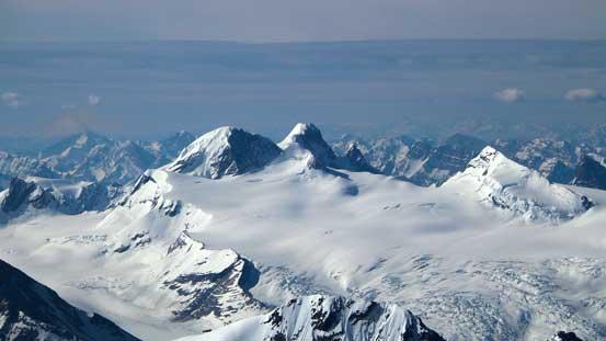 Mt. Mummery - another Rockies giant now way below us