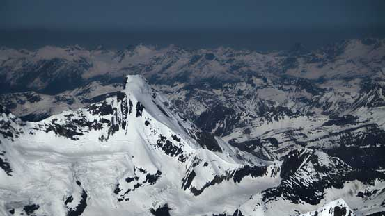 The super-sexy Icefall Peak is part of Bush Mountain