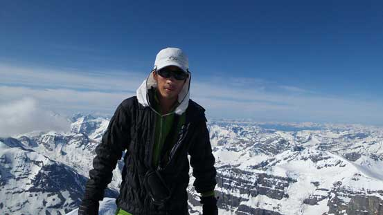 Me on the summit of Mt. Forbes - my 28th 11,000er!!