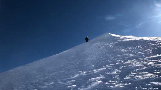 Ben descending the west ridge