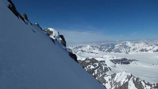 And now, dropping down the NW Face
