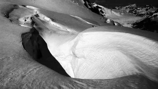 A huge crevasse...