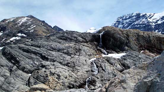 This waterfall comes down from North Glacier