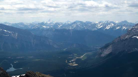 Bow Valley and Banff townsite is visible