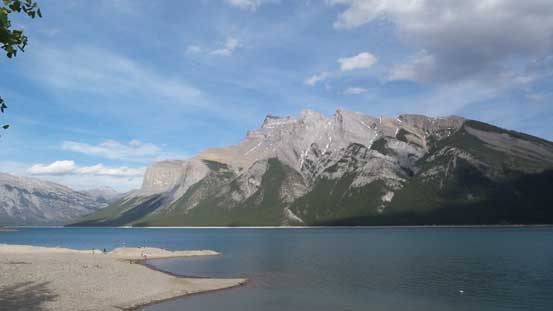 The tourist's view of Lake Minnewanka