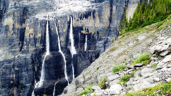 Here has some of the best waterfalls I've ever seen in the Rockies
