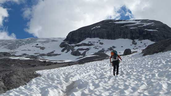 Snow greatly assisted our ascent