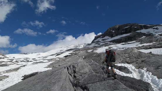More of the hike on slabs
