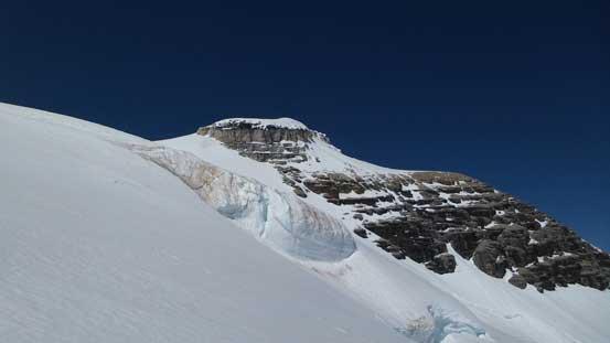 Ascending steeply towards Lyell II/III col, looking towards Lyell II