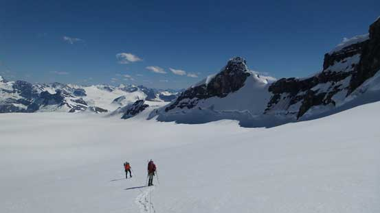 Ben and Vern on the icefield