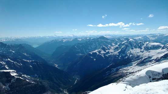 The Lyell Creek valley and BC Rockies