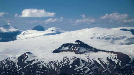 Castleguard Mountain looks tiny - it's my first peak on the Columbia Icefield