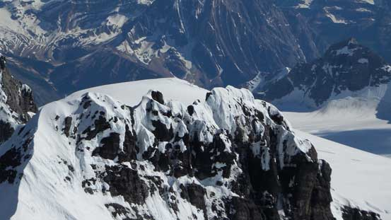 "The ""broken tower traverse"" on the S. Ridge of Lyell IV - looks very snowy too..."