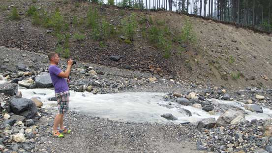 The first creek crossing is just a warm-up for Ben's SUV...