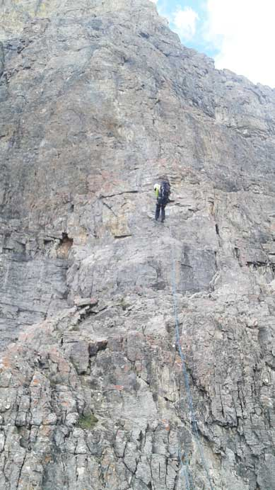 Me on the last rappel of the main body. Photo by Ben