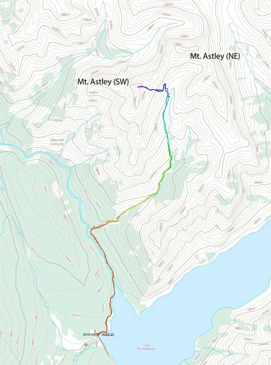 Mount Astley scramble route