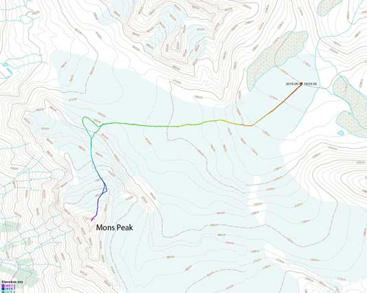 Mons Peak ascent route