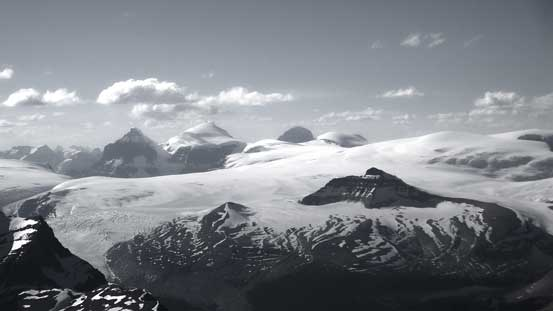 The Twins and Columbia Icefield