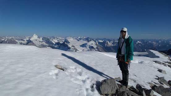 Me on the summit of Lyell I, my 31st 11,000er!!