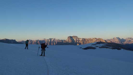 Ben, Vern and some evening colours on Mt. Erasmus