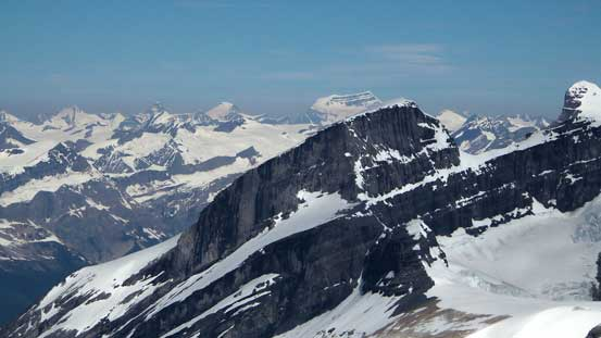 Mt. Clemenceau rises behind Mt. Alexandra