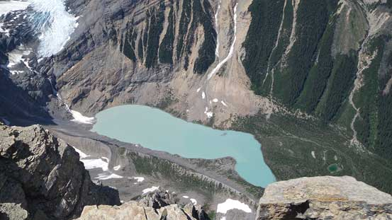 The glacial lake at the head of Arctomys Creek (Valley of Lakes)
